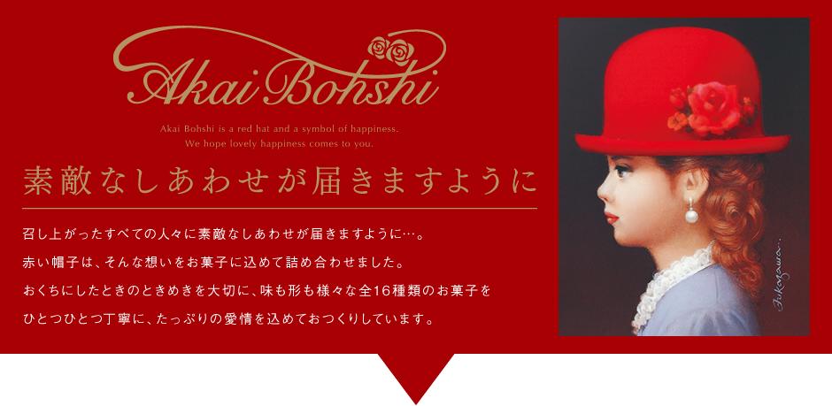 召し上がったすべての人々に素敵なしあわせが届きますように…。赤い帽子は、そんな想いをお菓子に込めて詰め合わせました。