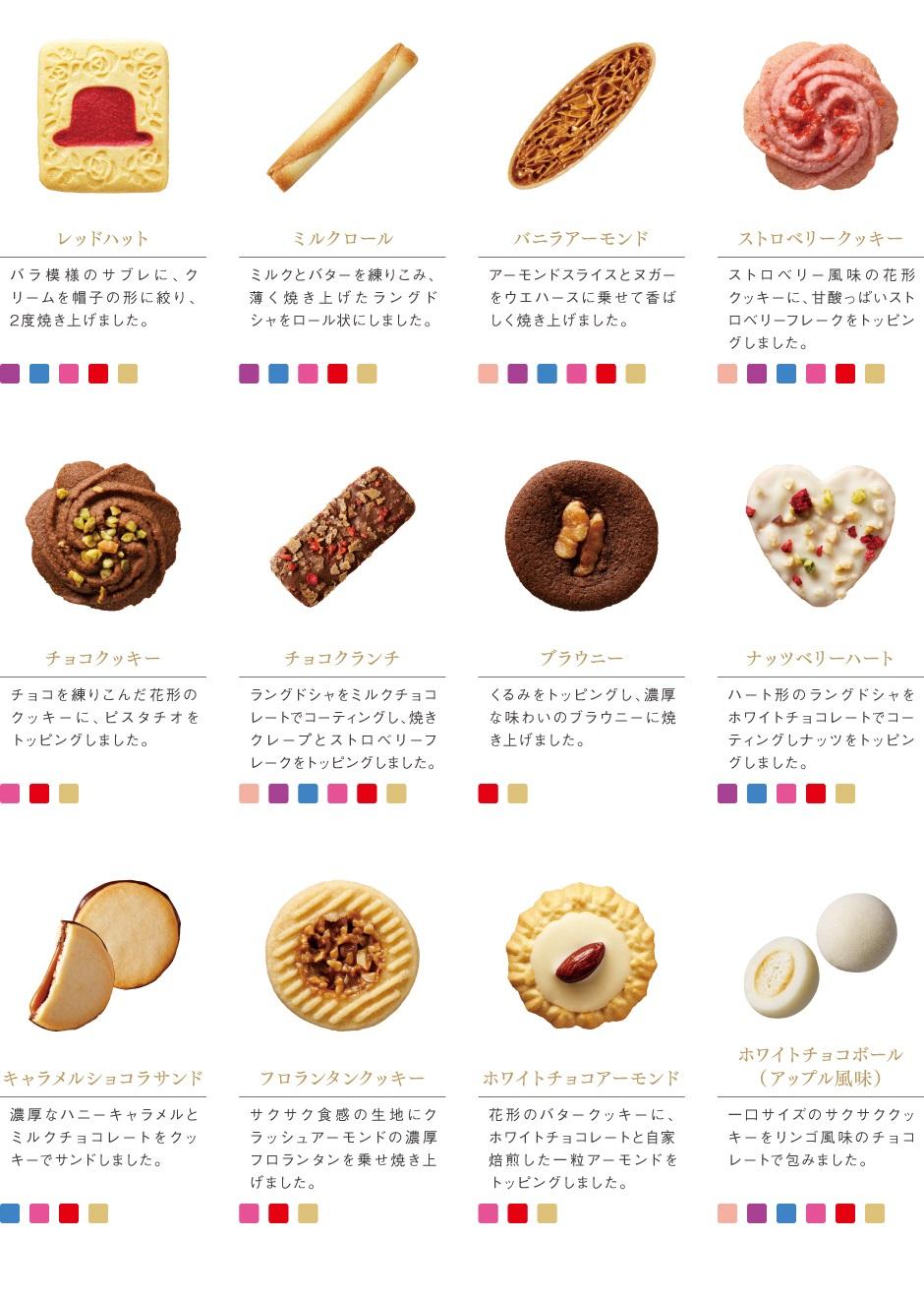 [赤い帽子のお菓子]レッドハット/ミルクロール/バニラアーモンド/ストロベリークッキー/チョコクッキー/チョコクランチ/ブラウニー/ナッツベリーハート/キャラメルショコラサンド/フロランタンクッキー/ホワイトチョコアーモンド/ホワイトチョコボール(アップル風味)